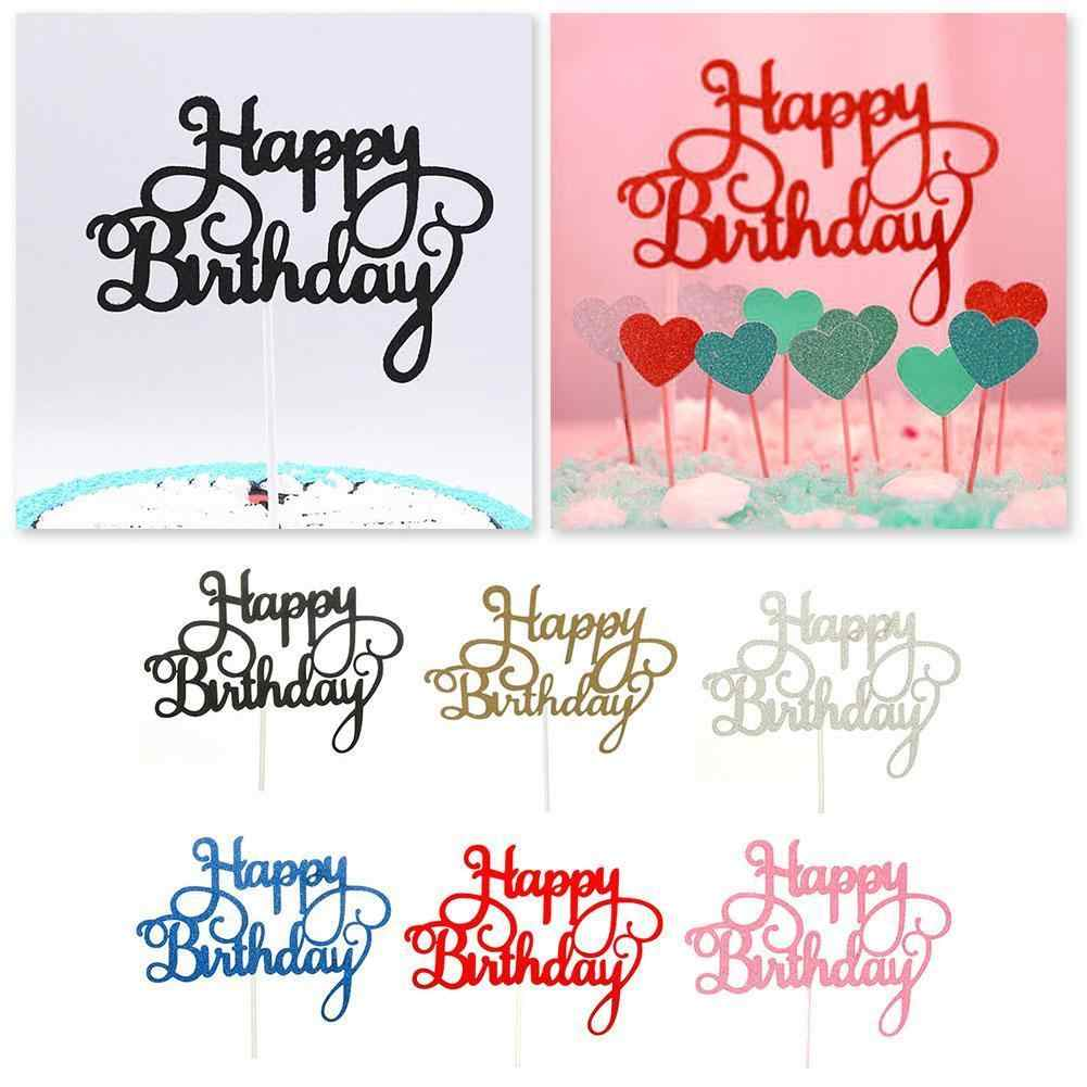 1pc Happy Birthday Cake Plugin Baby Shower Kids Birthday Colors Cake Tools Random Supplies Decorating 6 Xmas Party Topper B X6Q4
