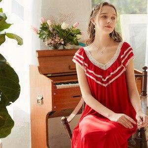 Image 5 - Roseheart נשים Pruple שחור סקסי הלבשת לילה שמלת Homewear תחרה נסיכת Nightwear יוקרה כתונת לילה נשי שמלה