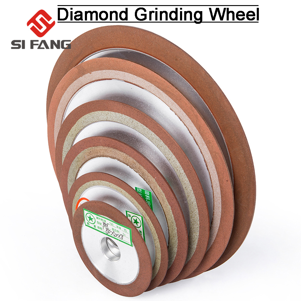 75/80/100/125mm 150Grit Diamond Grinding Disc Sharpening Diamond Grinding Wheel  For Tungsten Steel Milling Tool  Carbide Metal