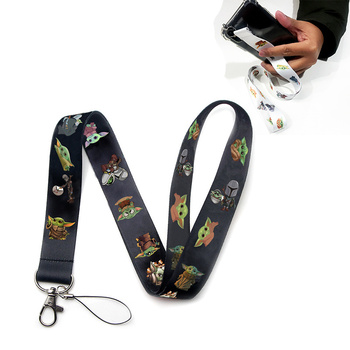 Baby Yoda The Mandalorian Key Lanyard Neck Strap Lanyards Star Wars 9 Mobile Phone Straps - discount item  30% OFF Costumes & Accessories