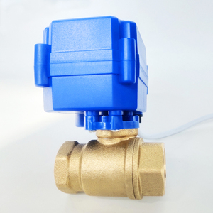 """Image 3 - 1/2"""" Electric motor valve Brass, DC12V Motorized valve with 2 wires(CR01), DN15 Electric valve for solar water heating systems"""