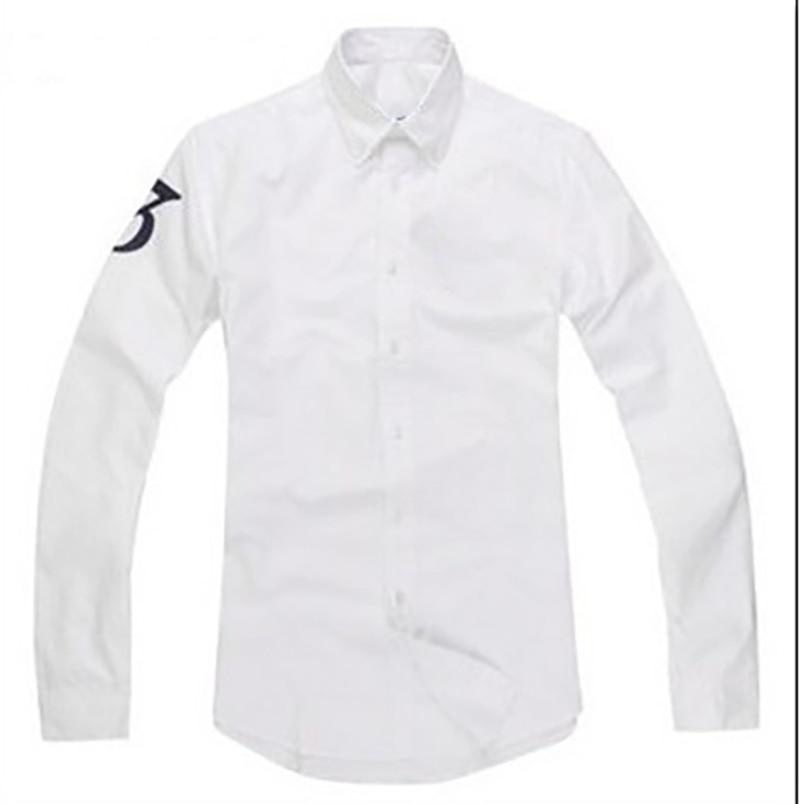 Homme Big Pony High Quality 100%cotton Thick Camisa Masculina Men Long Sleeve Dress Shirts Fashion Hombre Chemises
