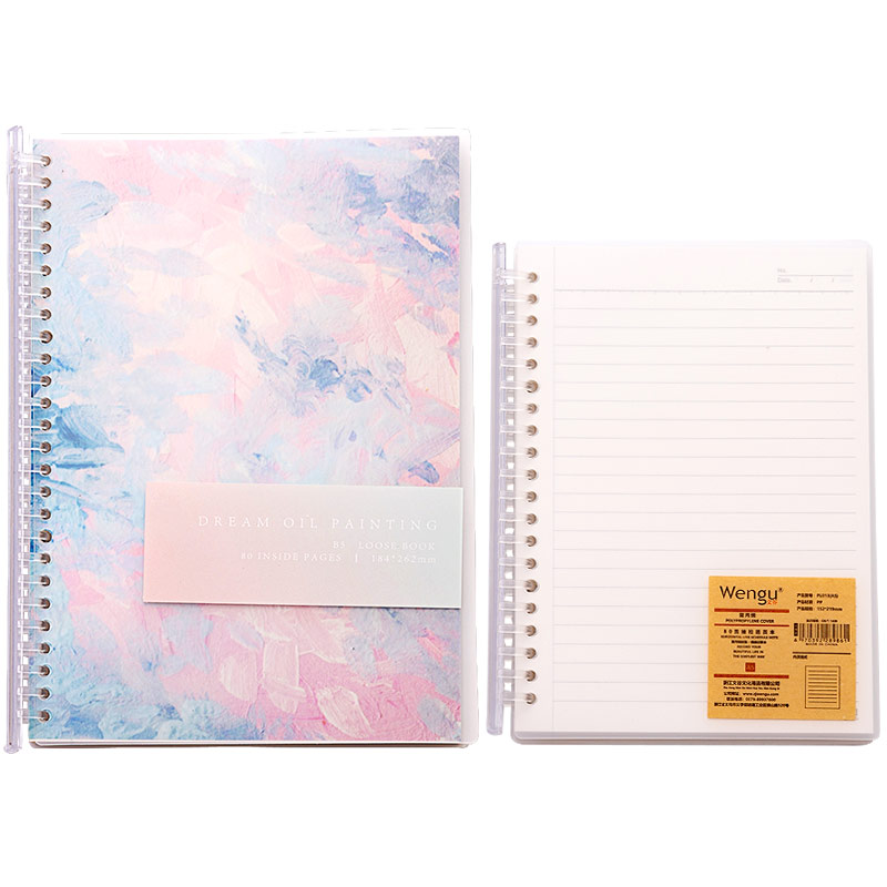2020 New A5/B5 Coil Loose-leaf School Student Coil Grid Detachable College Notebook Simple Grid Book Kawaii Cute Notebook