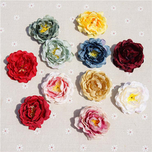 10PCS/pack Silk Rose Heads Artificial Flowers DIY Dress Decoration Wedding Valentine gifts Eternal life Plant Faux Fake 11colors