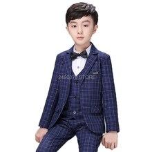 Boys Wedding Tuxedo Suits Children Formal Blazer Vest pants