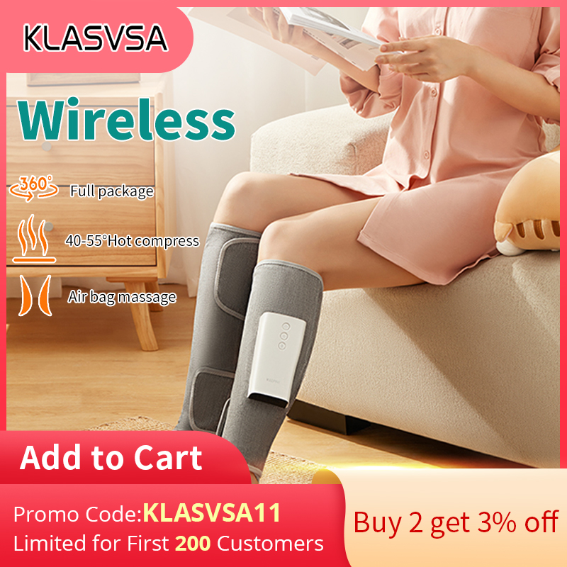 Wireless Air Compression Leg Massager Rechargeable Completely Wrapped Relieve Calf Muscle Fatigue Massage Relaxation Leg Massage Apparatus  - AliExpress