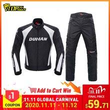 DUHAN Motorcycle Jacket Men Motocross Suits Jacket & Pants Moto Jacket Protective Gear Armor Motorcycle Clothing Riding Jackets