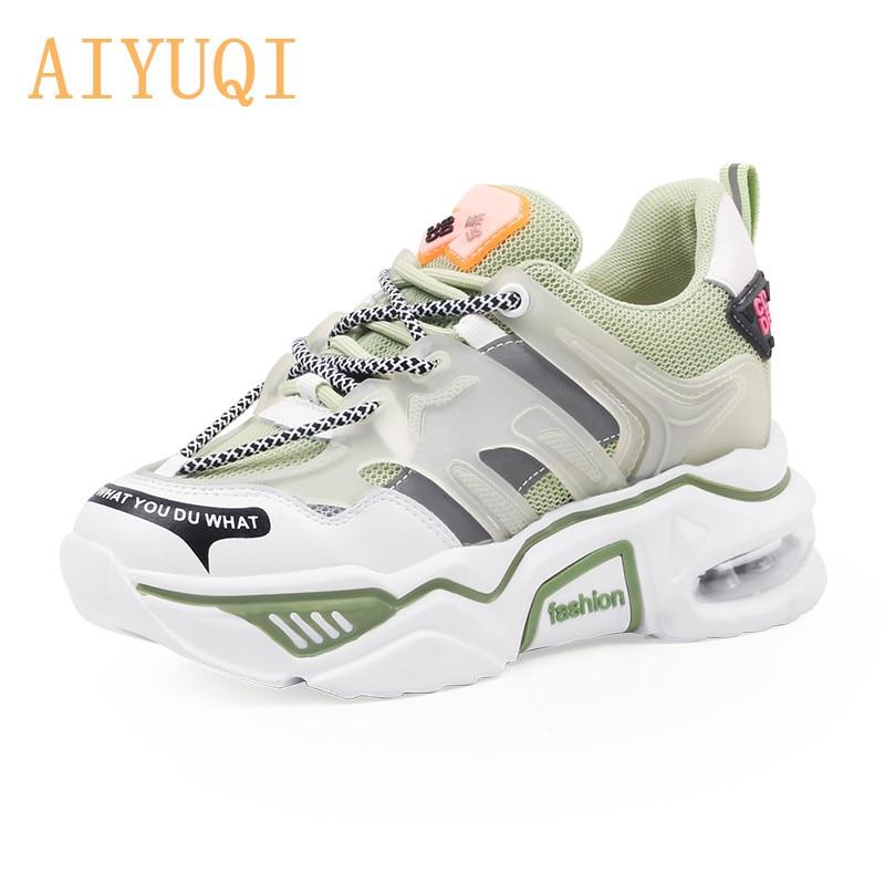 AIYUQI Women's Shoes Mesh Surface 2020 New Summer Wild Thick-bottom Tide Platform Shoes Casual Sneakers Women