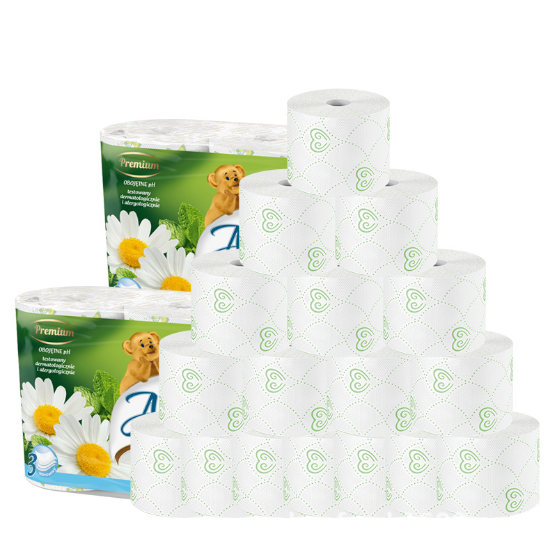 Toilet Paper Anmu Shucamila Printing Scented Native Pulp Toilet Paper Toilet Roll 8 Rolls / Bag
