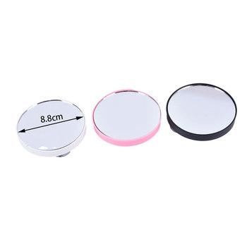5X 10X powiększające kosmetyczne okrągłe lustro z dwoma przyssawkami 88x88x9mm przenośne akcesoria do makijażu lustro tanie i dobre opinie JCSYFAC Nie posiada CN (pochodzenie) glass 2-face ZE879501