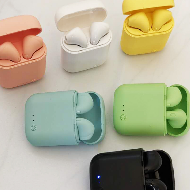 I7Mini TWS Drahtlose Kopfhörer Bluetooth 5,0 Kopfhörer Matte Ohrhörer Lade Box Headset Drahtlose Kopfhörer für xiaomi iphone