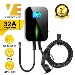 32A 1 fase EVSE Wallbox EV cargador de vehículo eléctrico estación de carga con Cable tipo 2 IEC 62196-2 para Audi MINI Cooper Smart