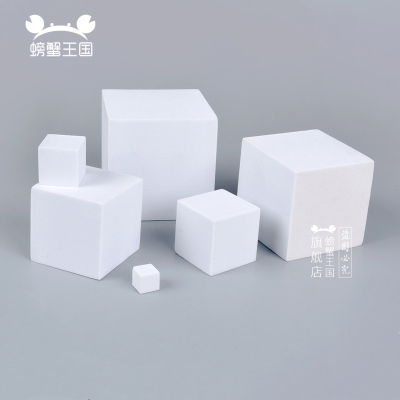 10pcs EVA Cube Foam Block Model Making Material DIY Handmade EVA Square Dollhouse Miniture Cutting Accessories