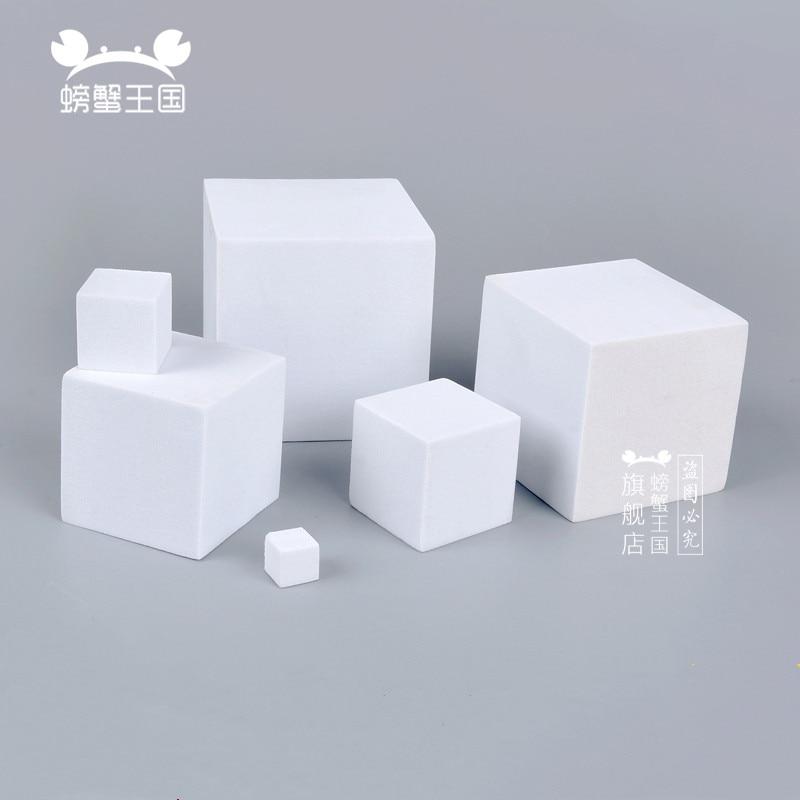 10pcs EVA Cube Foam Block Model Making Material DIY Handmade EVA Square Dollhouse Miniture Cutting Accessories