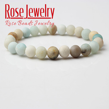 Natural Stone Amazon Frosted Bead Amazonite Bracelet  Fashion Amazonite stone beads bracelet For Women or Men Charm Jewelry Gift fashion men 6mm bead bracelets classic natural matte stone beads charm handmade bracelet