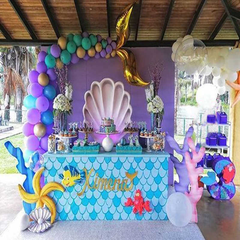1set starfish shell paper banner wedding decoration ocean sea Pirate garland birthday party under the sea mermaid party decor