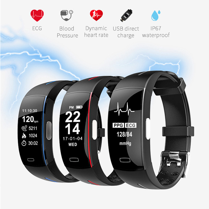 Blood-Pressure-Heart-Rate-Monitoring Smart-Band Bracelet Pedometer Support Sports-Fitness-Tracker
