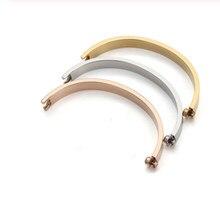 Moda de aço inoxidável linha horizontal chave de fenda amante pulseiras femme cristal pulseira pulseiras para feminino masculino pulseiras