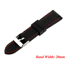 1 PC Mens Boys Silicone Rubber Watch Straps Bands Waterproof 20mm 22mm 24mm W2952001 все цены