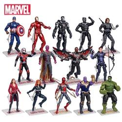 Genuine Marvel Super Heroes Avengers Endgame Iron Man Hulk Captain America Spider-Man Action Figure Model Dolls Toys Kids Gifts