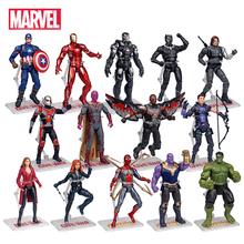 Oryginalne Marvel superbohaterowie Avengers Endgame Iron Man Hulk kapitan ameryka Spider-Man Model postaci lalki zabawki prezenty dla dzieci tanie tanio Disney Puppets CN (pochodzenie) Unisex Jeden rozmiar 17CM Pierwsze wydanie 3 lat Urządzeń peryferyjnych Zachodnia animiation
