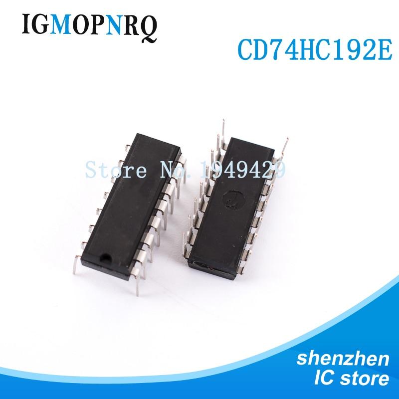 10 pz DIP16 CD74HC192 74HC192 IC Hi-Sp CMOS Pre Sync Up/Dwn con ripristino asincrono nuovo