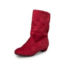Women Girls Fashion Shoes Autumn Winter Boots Ladies Sexy Sweet Outdoor Boot Stylish Flat Flock Snow Botas planas