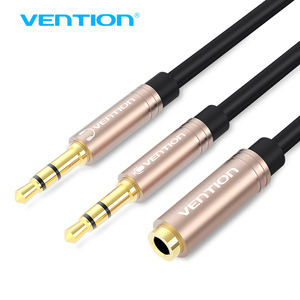 Vention 3,5mm Aux Audio extensión Cable Jack 3,5 de hembra a macho dual auricular divisor auxiliar para ordenador portátil iPhone