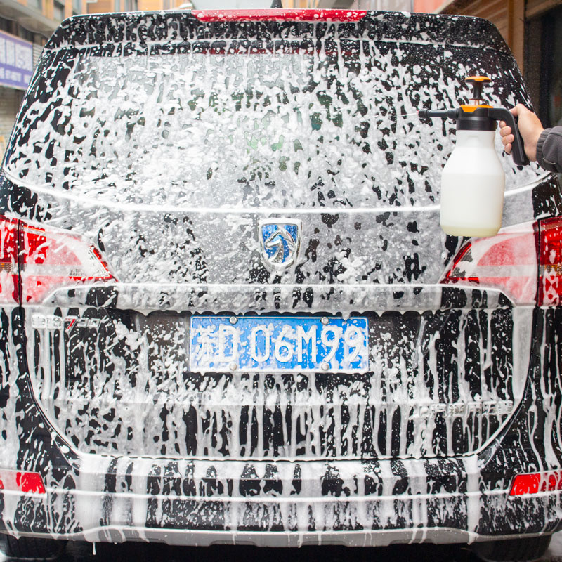 1- 2L car wash sprayer foam spray nozzle auto pressure /foam sprayer auto sprayer plastic for household window foam watering can-3