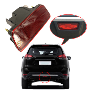 For Nissan X-Trail T32 Rogue 2014-2020 Rear Tail Bumper Center Reflector ABS Rear Tail Light Red Fog Lamp car accessories