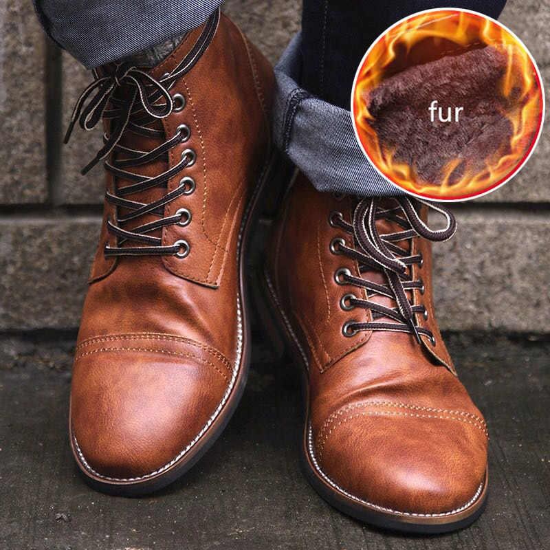 2019 neue Chelsea Stiefel Winter Schuhe Männer Stiefeletten Plüsch Warme Männer Stiefel Plus Größe 46 Leder Pu Männlichen Schuhe erwachsene Stiefel Männer 39 S