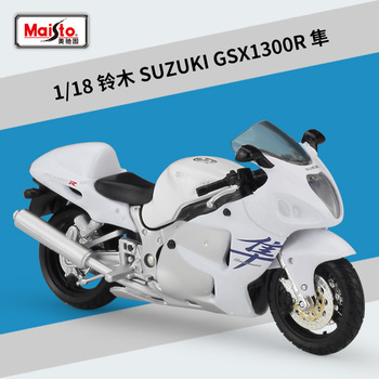 Maisto NEW 1:18 SUZUKI GSX1300R Alloy Diecast Motorcycle Model Workable Shork-Absorber Toy For Children Gifts Toy Collection 1 18 diecast model for nissan geniss livina red mpv alloy toy car miniature collection gifts