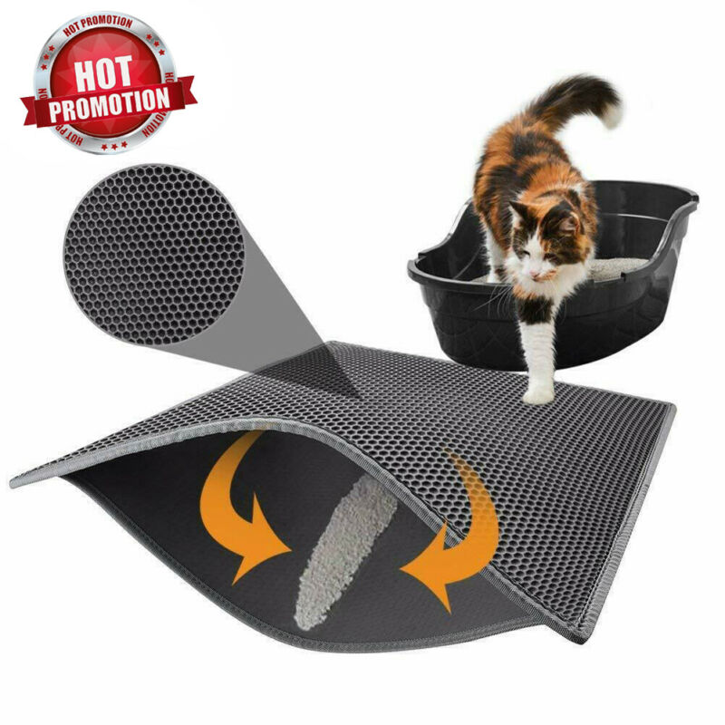 1PC Waterpoof Cat Litter Mat Eva Double Layers Cat Litter Trapper Mats Easy Clean Nonslip Collect Sands For Protect Floor