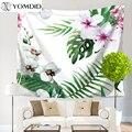 Тропическое растение гобелен цветы настенные Висячие гобелены декоративные богемные одеяла домашний декор скатерти Коврик для йоги пляжн...