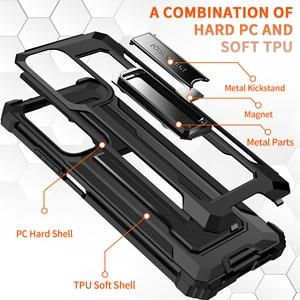 Image 5 - Kickstand Hard Armor Phone Cover for Xiaomi POCO F3 5G F 3 3F Mi 11 PocoF3 10T Lite Redmi K40 Pro Note 9S 9 8 Pro 9A Note 9T