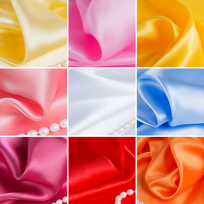 100cm*150cm 23Colors Silks And Satins Fabric Satin Color Butyl Silk Gift Box Lining Lieb Fabric For Dress Satin FabricDesigner