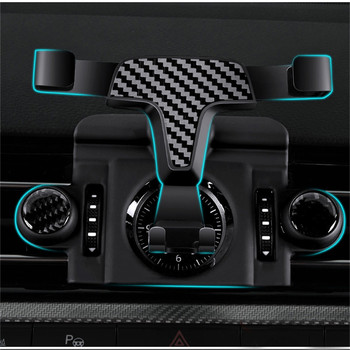 Phone Holder Gravity Car Air Vent Outlet Mount Bracket for Peugeot 4008 / 5008 2017 2 Mobile Phone GPS Holder Adjustable Angle image