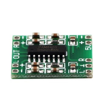 Green PAM8403 Super Mini Digital Amplifier Board 2 * 3W Class D Digital 2.5V To 5V Power Amplifier Board Efficient hot new image