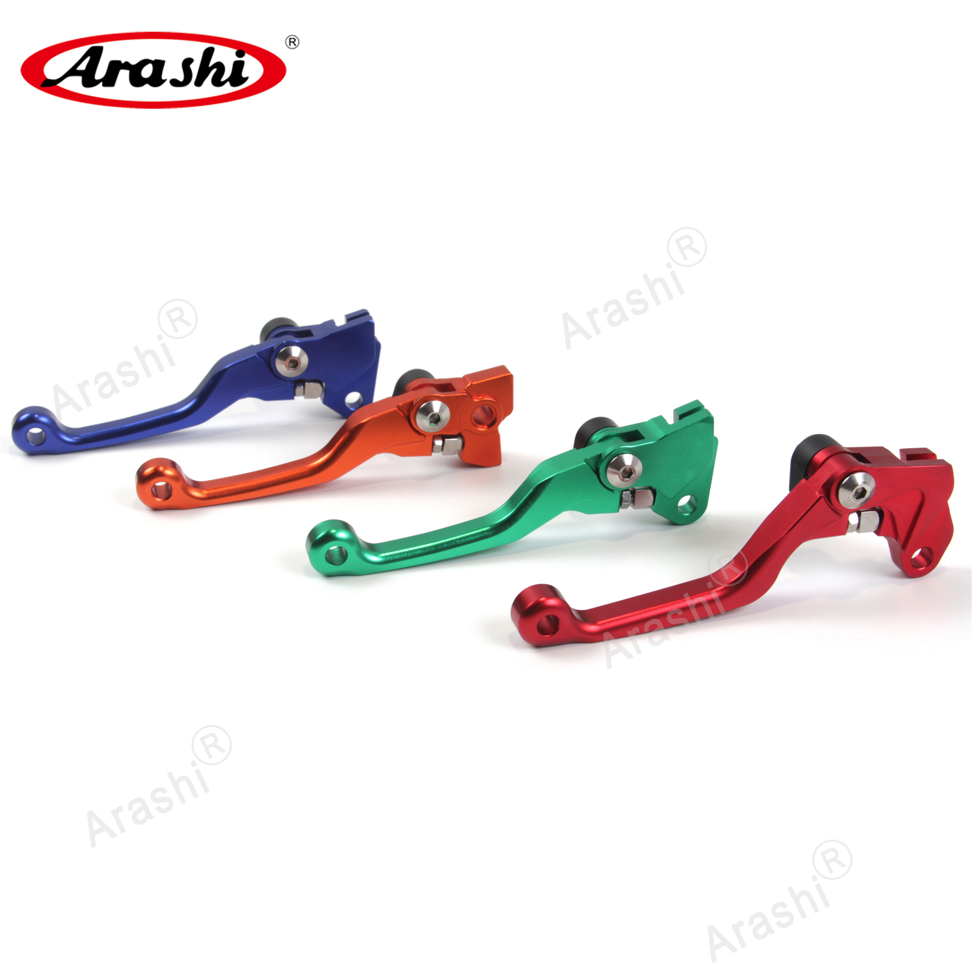 Arashi 1 Pair Dirt Bike CNC Brake Clutch Levers For HONDA CRF250 CRF450R 07-17 Motorcycle Brake Lever <font><b>CRF</b></font> 250 <font><b>450R</b></font> 2015 <font><b>2016</b></font> image