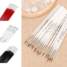 10 Pcs Hook Line Pen Drawing Nylon Hair Artist Pen Fine Thin Watercolor Oil Painting Brush Art Supplies Drawing Tool Accessories(China)
