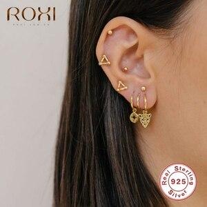 ROXI Sexy Mini Animal Cheetah Head Hoop Earrings for Women Men Birthday Gift Punk Earrings 925 Sterling Silver Jewelry Oorbellen