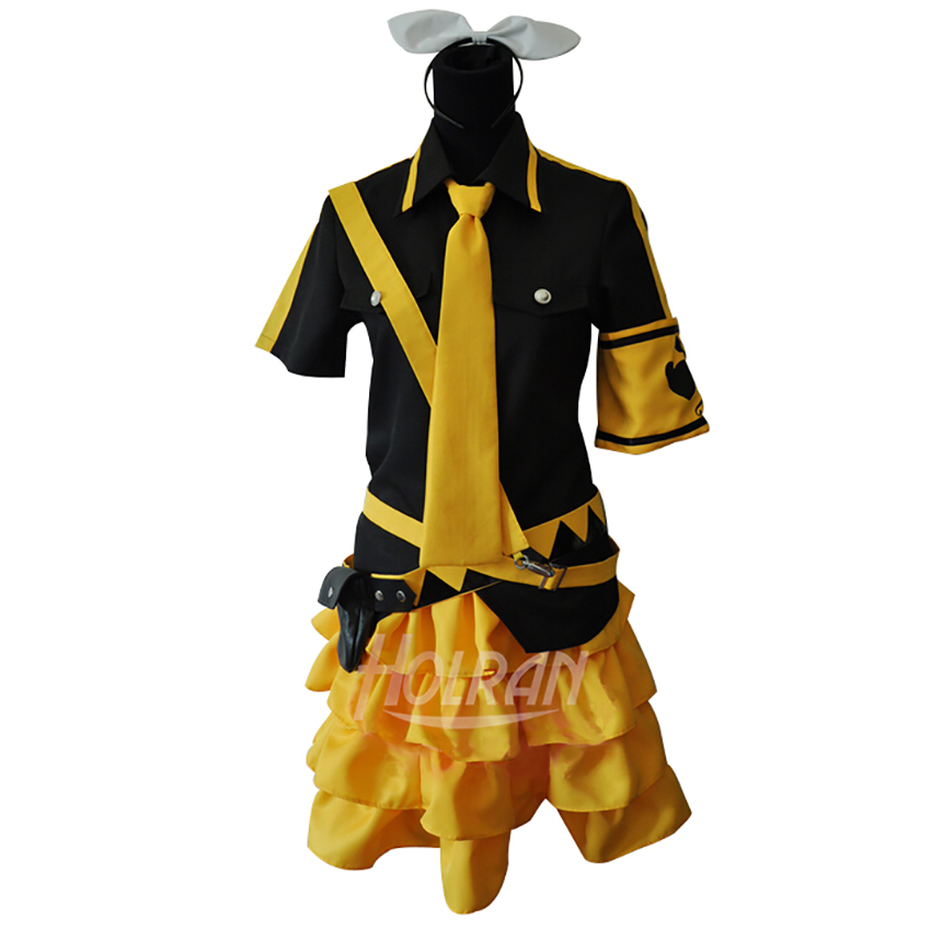 Virtual Idol Hatsune Miku Cosplay Costume Cos Kagamine Rin Sister Stage Costume VOCALOID2 Outfits