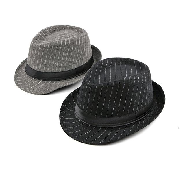 Фото мужская винтажная полосатая шляпа wuaumx фетровая в стиле «джаз» цена