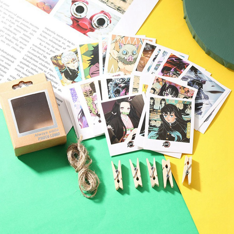 Anime Demon Slayer: Kimetsu No Yaiba Card Sticker 40 Pcs/lot Cartoon Credit Card Sticker Lanyard With Clip Stationery