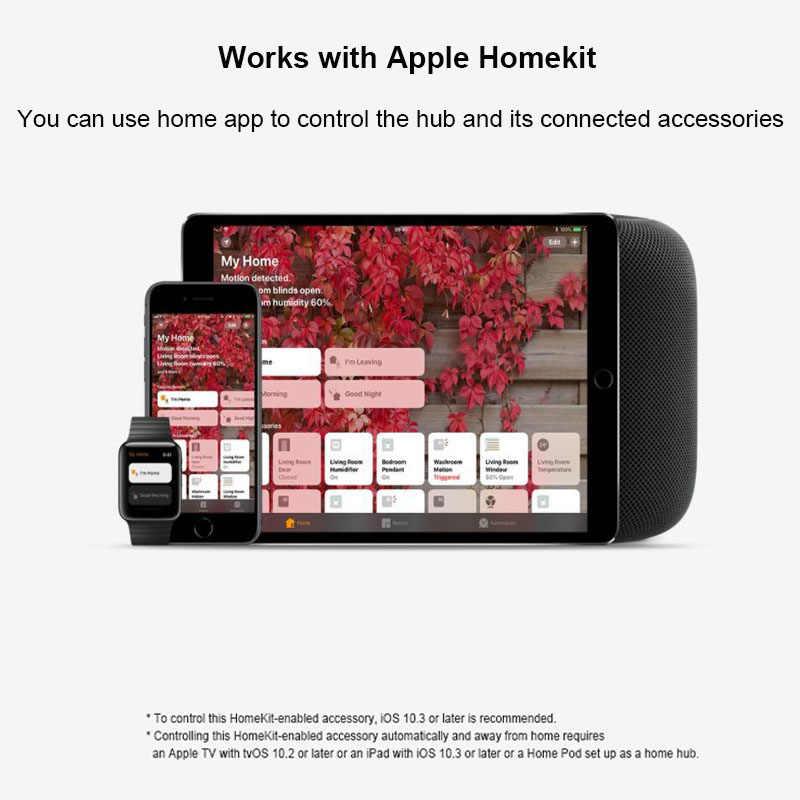 منتج أصلي من Xiao mi jia Aqara لعام 100% بوابة mi مزودة بإضاءة ليلية Led RGB تعمل بشكل ذكي مع إصدار عالمي من Apple Homekit