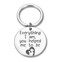 Mother Father Day Keychain Gift for Mom Dad From Daughter Son Keyring Appreciation Gifts