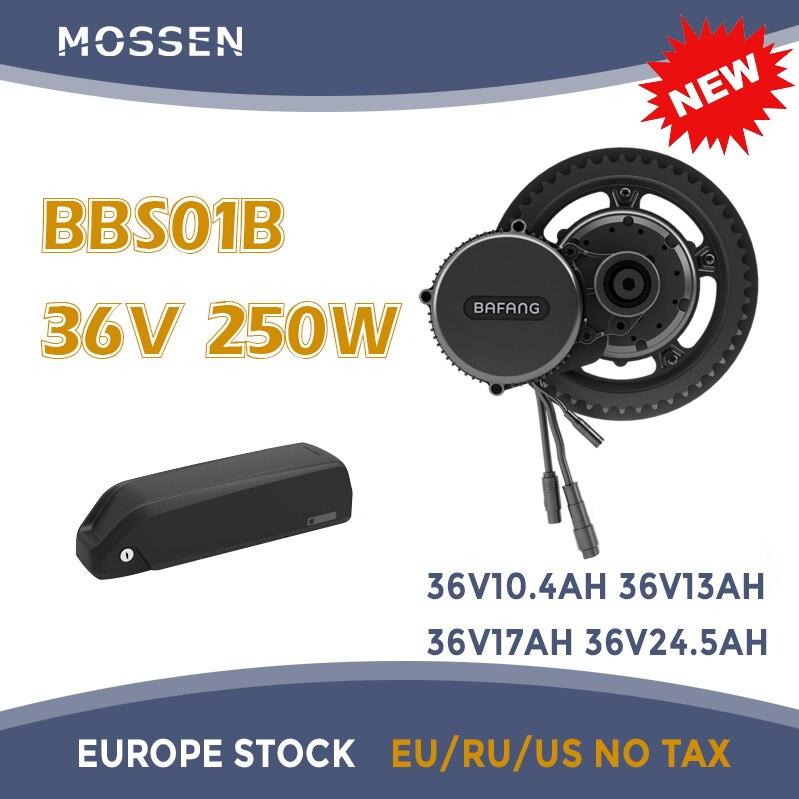 Bafang silnik Bafang BBS01 BBS01B 250W 36v 24.5ah Samsung akumulator elektryczny silnik z napędem pośrednim ebike zestaw do konwersji roweru elektrycznego