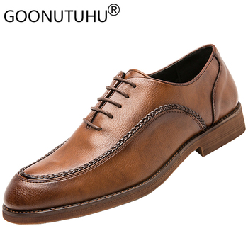 2020 style fashion men's shoes casual leather classics brown black derby shoe man lace up comfortable nice oxfords shoes for men fashion men s shoes casual genuine leather cowhide male classics brown black lace up shoe man comfortable shoes for men hot sale