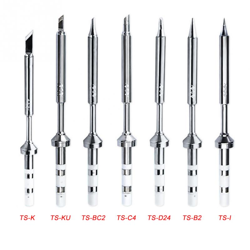 Original 1 Piece Specific Replacement Iron Tips 7 Types For Digital Mini Soldering Iron TS100 Soldering Iron Soldering Accessory