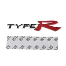 3D Emblem Badge Sticker Decal Metal Type R For Honda CR-V XR-V HR-V Accord Jazz